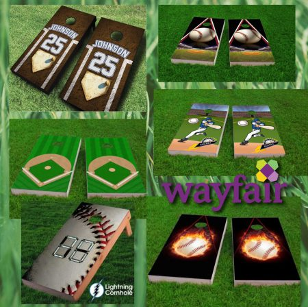 wayfair baseball cornhole rectangular banner