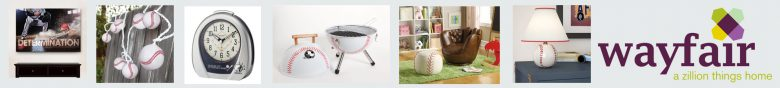 wayfair baseball items banner