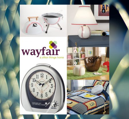 wayfair baseball items rectangular with fence background