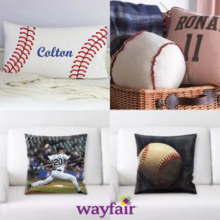 wayfair rectangular baseball pillow banner