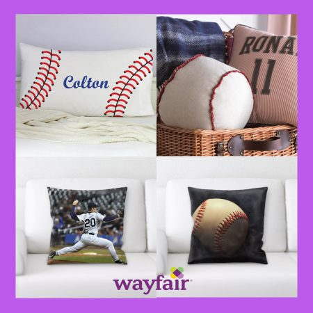 wayfair rectangular purple bk baseball pillow banner